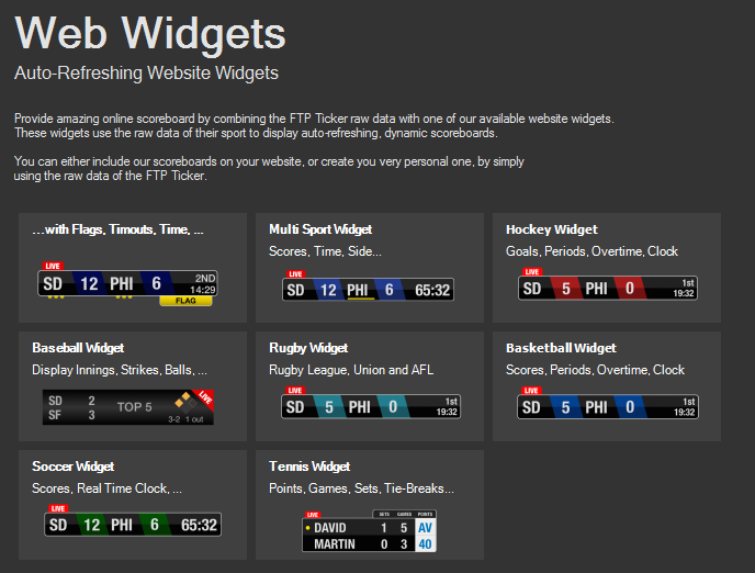 100 widgets.Free Widgets and Gadgets for your Websites | Webpages