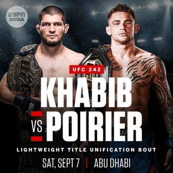 UFC 242: Khabib vs. Poirier is an upcoming mixed martial arts event. https://ufc242abudhabi.com