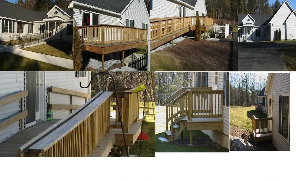 constructed deck and handicap ramp